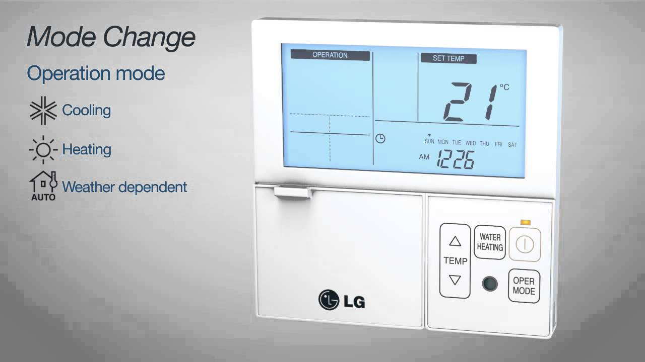 lg therma v heat pump mode change video