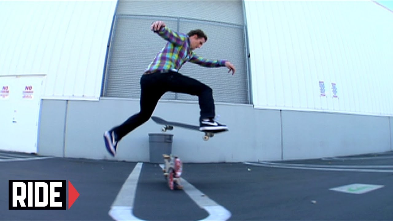 ebbb0c871378 Quiksilver Race to Skate - Reese Forbes Does 5 Tricks over 2 Boards ...