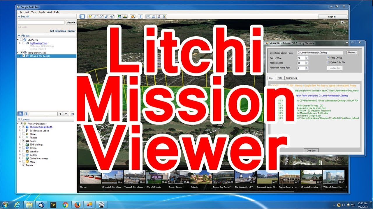 Litchi Virtual Mission Viewer tutorial ✅