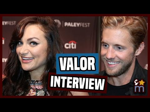 VALOR Cast Tease Season 1 Drama  Matt Barr, Christina Ochoa