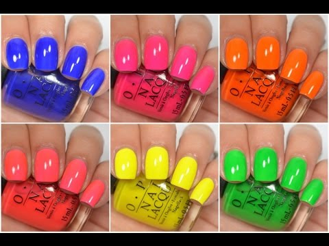 OPI - TRU NEON | Swatch and Review - YouTube