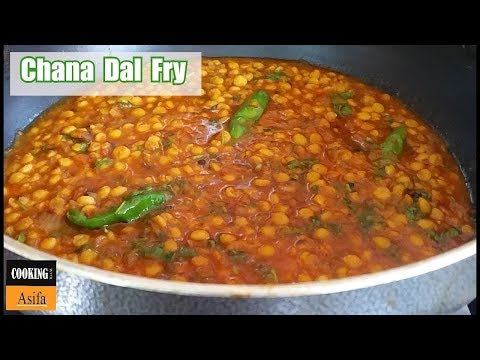 Chana Dal Fry Recipe | Food Street- style Spicy Dal Tadka curry-