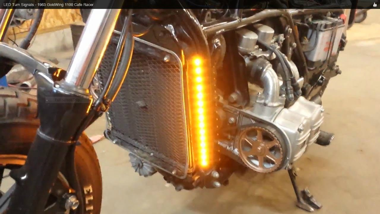 led turn signals - 1983 goldwing 1100 cafe racer - youtube