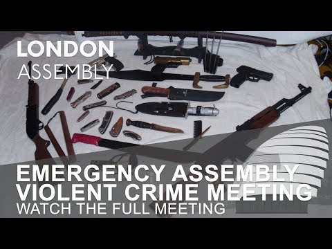 Emergency London Assembly meeting on violent crime