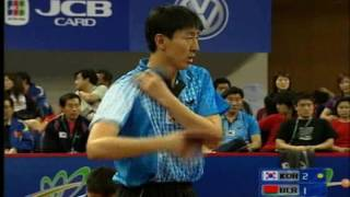 Table Tennis   Oh Sang Eun vs Vladimir Samsonov WTTC 2005