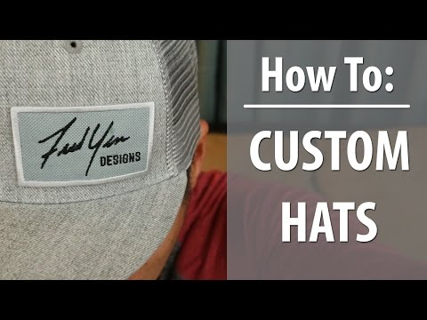 How to Make Custom Hats with your Logo (Promote Yourself)