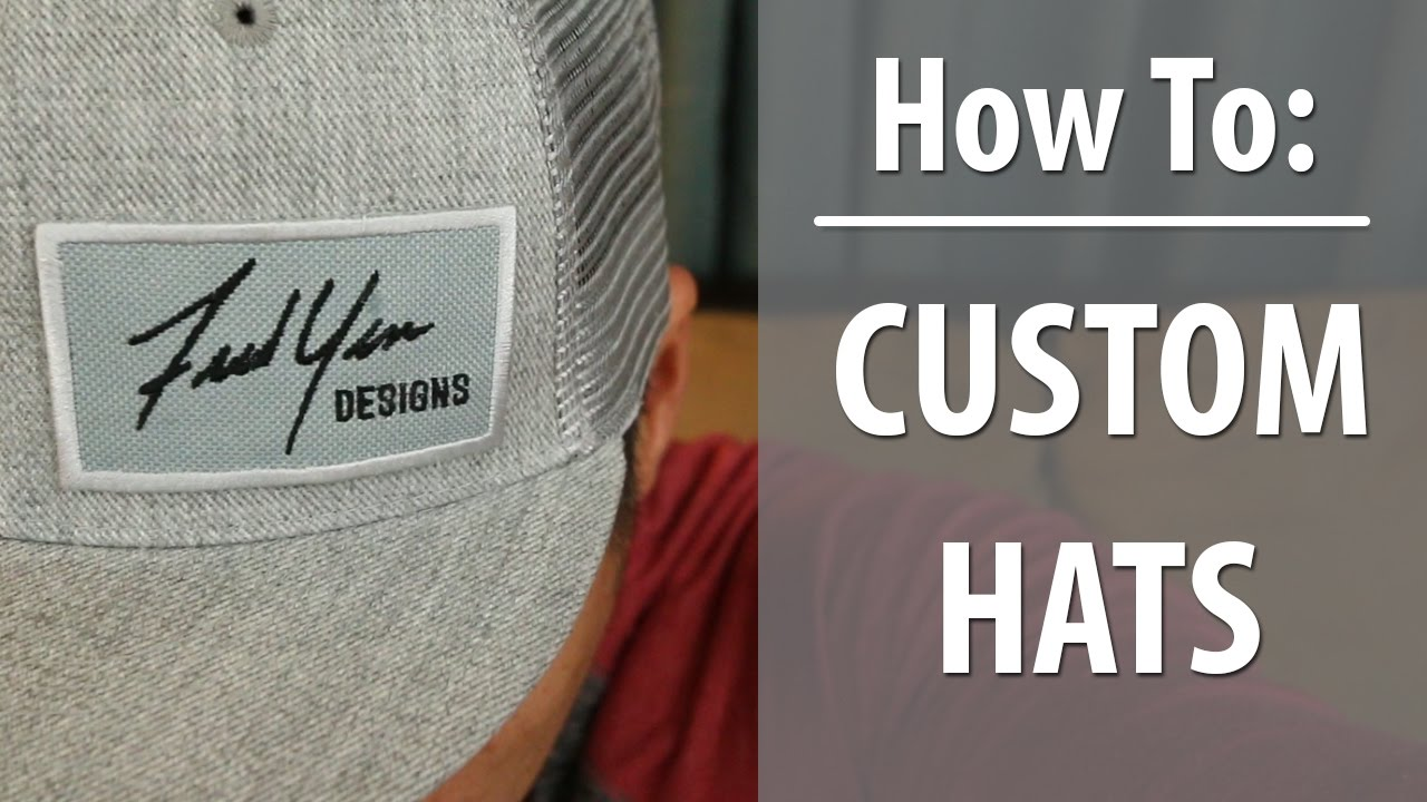 5dc0cf43737 How to Make Custom Hats with your Logo (Promote Yourself) - YouTube