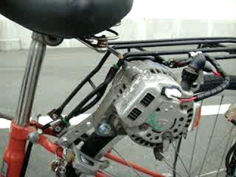 Bicicleta de Volante com Alternador