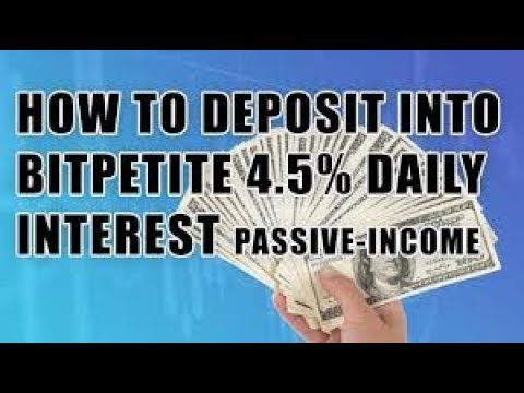 BitPetite Is It Paying? 4.5% interest per day.