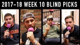 2017-18 Week 10 Blind Picks