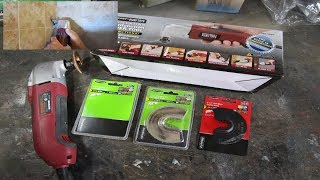 DIY Shower Tile Grout Removal Unboxing Chicago Electric Oscillating Tool