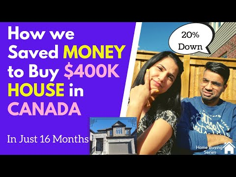 We Saved $95,000 In 16 MONTHS | How To Get Money For Downpayment | Save Money For A House In Canada