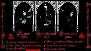 AHRIMAN   Sacrificios Para el Trono de Ahriman  full album