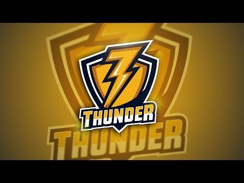 Adobe Illustrator -Thunder E Sport Logo Speedart