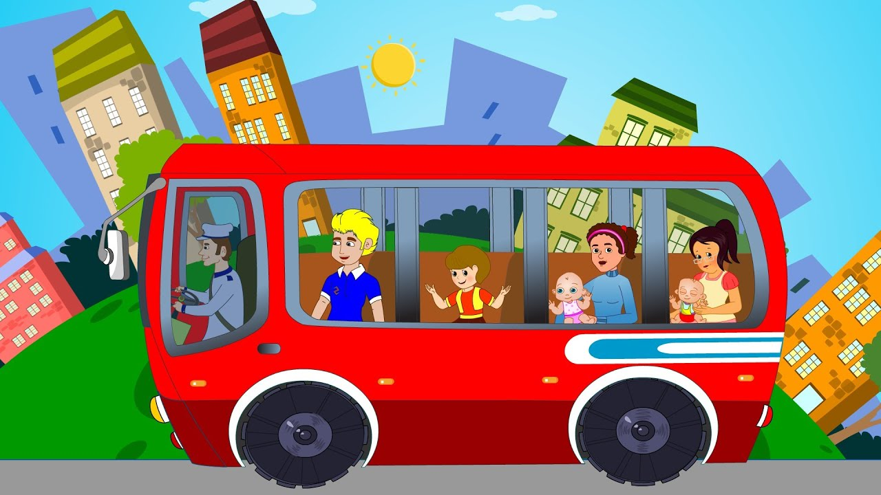 Wheels On The Bus Nursery Rhyme For Children Kids Tv ...