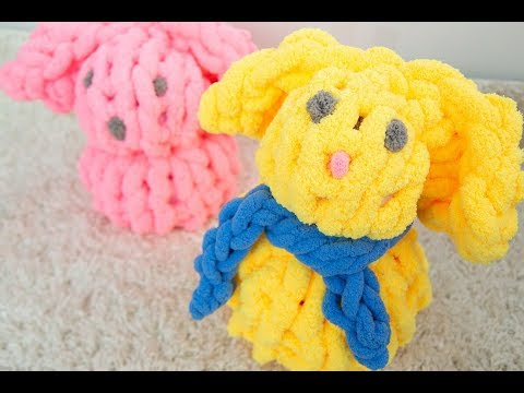 HOW TO HAND KNIT AN EASTER BUNNY