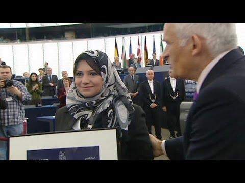 EU Parliament hands Sakharov prize to Arab Spring activists - no comment