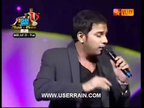 Karthik singing Sakthi Kodu at Star Vijay Nite.[www.facebook.com-caatikz]      -.flv