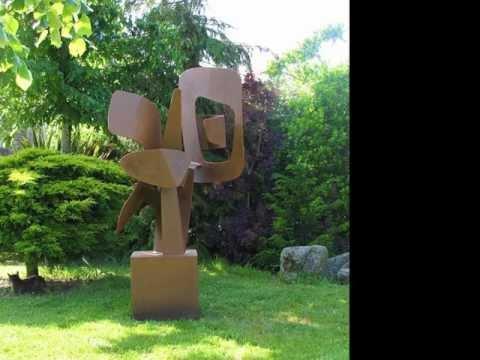 sculptures en acier corten par mpcem bretagne youtube. Black Bedroom Furniture Sets. Home Design Ideas