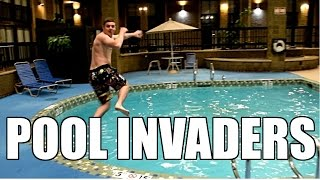 How to Crash ANY Hotel Pool! (Pool Invaders)