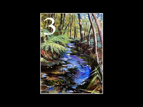 "Part 3 ""Booderee Botanic Gardens"" Step-by-step Modern Landscape Technique – A Large Acrylic Painting"