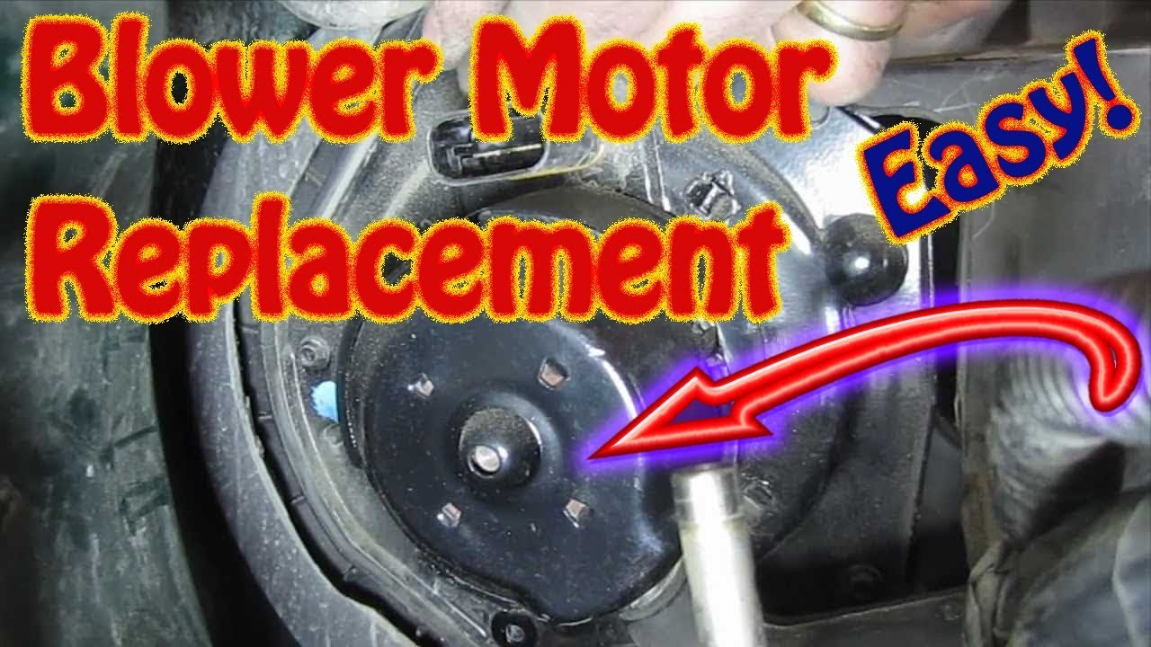 diy how to replace a heater ac blower motor on a chevy