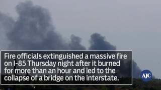 Driver passes by I 85 fire