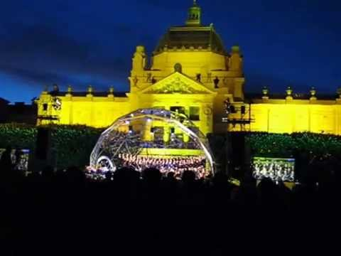 Celebration in city park of Zagreb / Croatia  2014