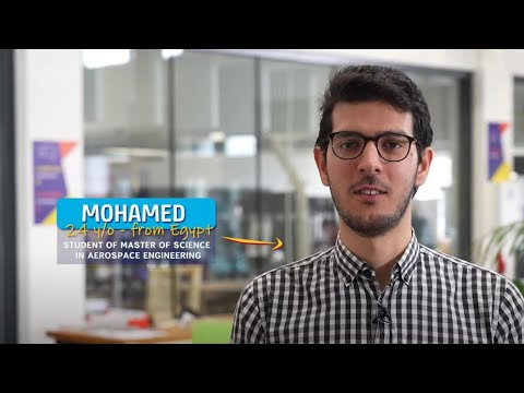 Mohamed, 24yo, student of the Master of Science in Aerospace Engineering