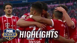 Bayern Munich Vs. Monchengladbach | 2017 18 Bundesliga Highlights