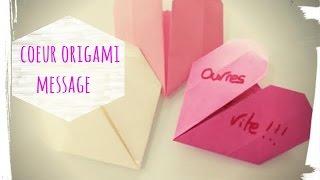 Tuto origami cœur saint valentin