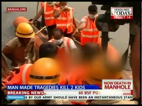 Bangalore: Boy dies after falling into open manhole