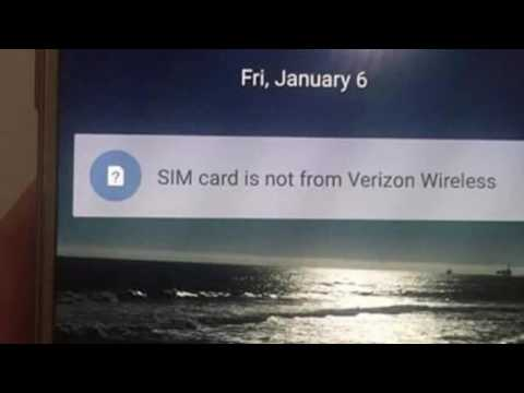 Samsung Galaxy S7  Sim Card is not from Verizon Wireless - What to do next?