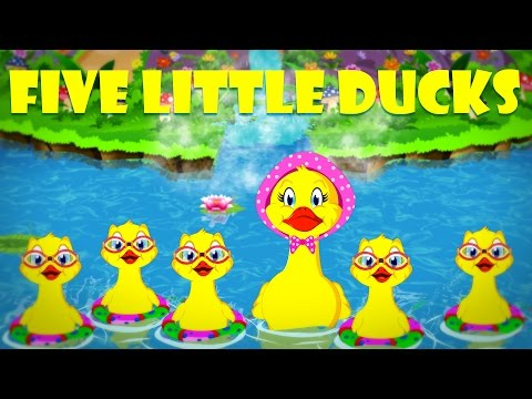Five Little Ducks   Number Rhymes   Nursery Songs with Lyrics