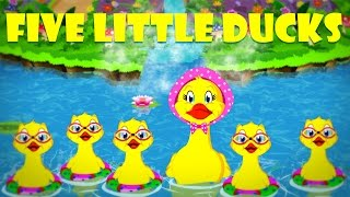 Five Little Ducks | Number Rhymes | Nursery Songs with Lyrics