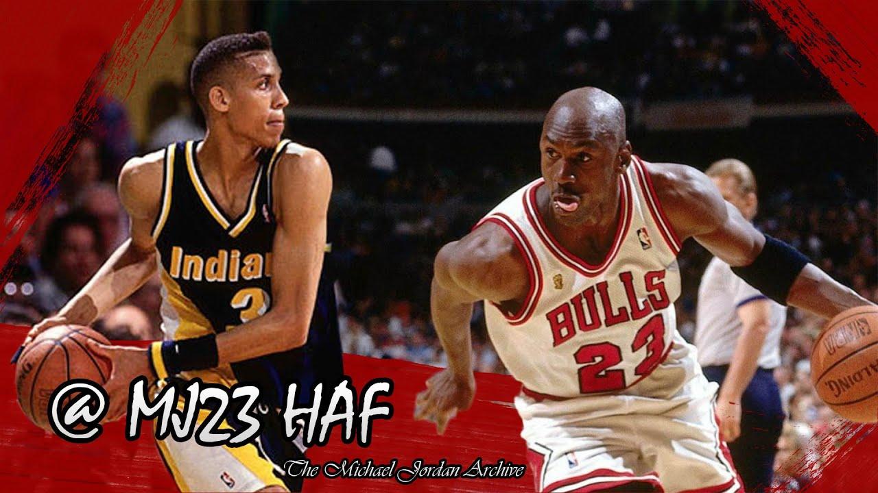 e176f7c04ae216 Michael Jordan vs Reggie Miller Highlights Bulls vs Pacers (1991.03.23) -  73pts Combined!