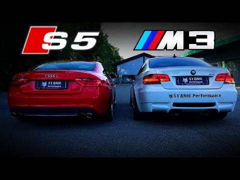 Audi S5 vs BMW M3 E92 V8 Sound Battle S5 Capristo vs M3 HMS STANIC PERFORMANCE