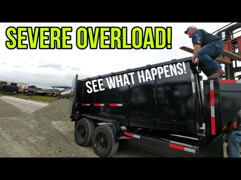 Crazy Test With 3 Dump Trailers WAY Overloaded! See Which Ones Failed!