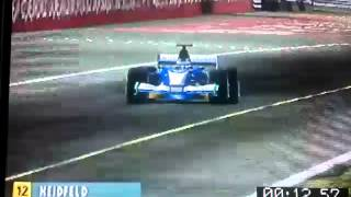 Nick Heidfeld huge crash formula one 2003