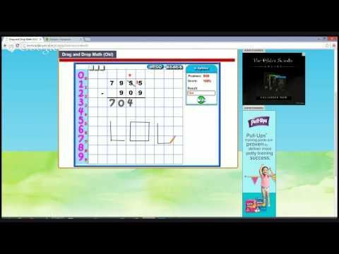 Lil Nubians Math Lab - Drag and Drop Math (subtraction)
