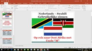 Swahili - Nederlands gebruikelijke woorden op vakantie in Oost Afrika 01