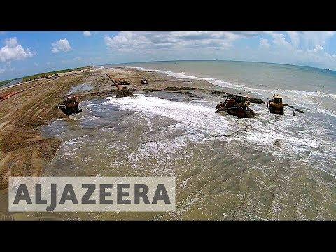 US: Rising sea levels threaten Louisiana coast
