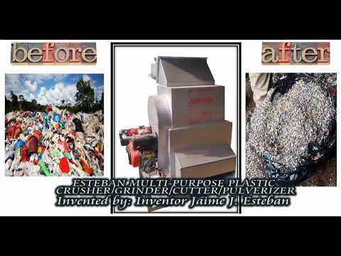 ESTEBAN MULTI-PURPOSE  FOR CRUSHING/CUTTING/GRINDING&PULVERIZING POST-CONSUMER  PLASTIC&PAPER WASTE