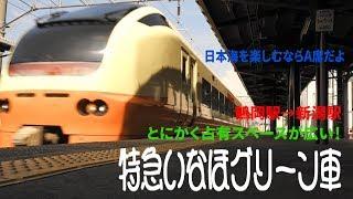 特急いなほのグリーン車に乗車!そしてA席からの日本海車窓