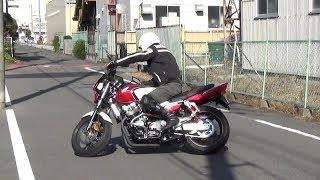 中型バイク:公道で格好いいUターンをするには・・ ホンダCB400SF thumbnail