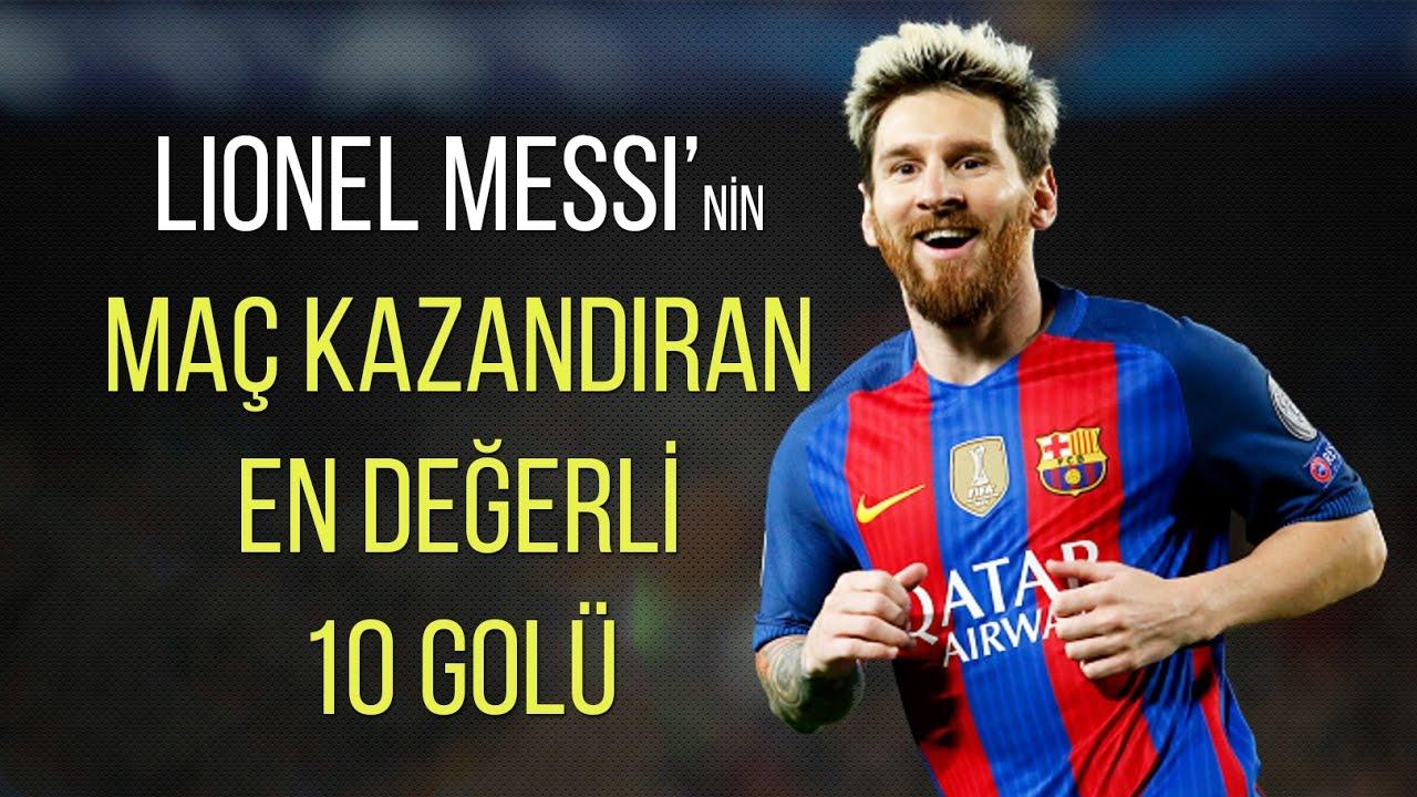 Lionel Messi'nin - 'Maç Kazandıran' En Değerli 10 Golü • HD