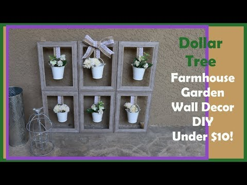 Dollar Tree DIY Farmhouse Garden Wall / Table Decor UNDER $10!!