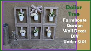 Dollar Tree DIY Farmhouse Garden Wall / Table Decor UNDER $10!!