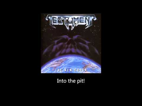 Testament - Into The Pit (Lyrics)