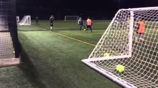 Joe Rowley & Liam Glover casual corner kick